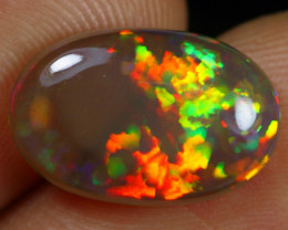 11.11- 4.10cts Fire Floral Pattern Natural Ethiopian Welo Opal