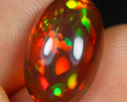 11.11- 5.20cts Caramel Multi Layer Cell Pattern Natural Ethiopian Welo Opal