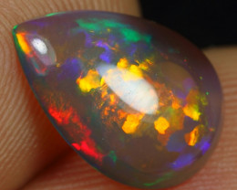 -25% Black Friday- 2.70cts Strong Broad Neon Fire Natural Eth. Welo Opal