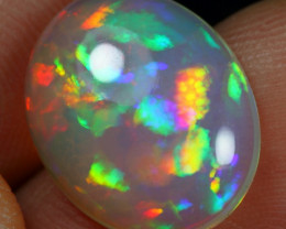 4.80cts Brush Rainbow Painting Natural Eth. Welo Opal