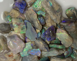 COLOURFUL CRYSTAL ROUGH; 100 CTs of Lightning Ridge Rough Opal #1541