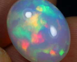 8.45cts Stunning Broad Rainbow Fire Natural Ethiopian Welo Opal