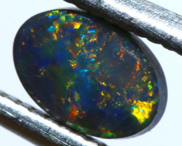N2 -   0.49 CTS   BLACK OPAL  POLISHED STONE  L. RIDGE TBO-10108