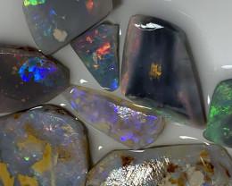 UNFINISHED RUBS; 39 CTs of Lightning Ridge Opal Rubs#1555