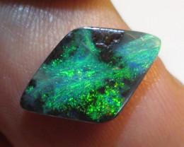 3.05 ct Beautiful Gem Blue Green Natural Queensland Boulder Opal