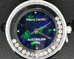 Original Ladies Silver Opal Watch Moving Stones - WO 26