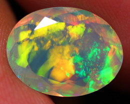 2.70 CT Extra Fine Quality Faceted Cut Ethiopian Opal -DF236