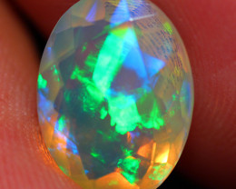 2.45 CT 12X9 MM Top Quality Faceted Cut Ethiopian Opal -DF238