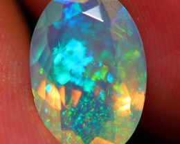 2.70 CT 13X9 MM GALAXY PATTERN!! Faceted Cut Ethiopian Opal -DF243