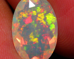 2.50 CT 14X9 MM Multi Fire!! AAA Quality Faceted Cut Ethiopian Opal -DF244
