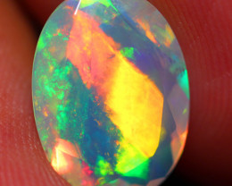 2.50 CT SATURATED PATTERN!! Faceted Cut Ethiopian Opal -DF245