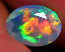 1.73 CT SATURATED PATTERN AAA Quality Faceted Cut Ethiopian Opal -DF253