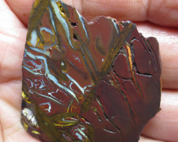 142cts. CHOCOLATE IRONSTONE~WHITE OPAL.