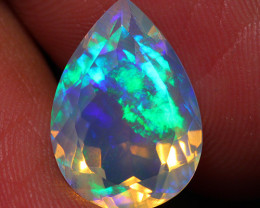 3.97 CT Extra Fine Quality Faceted Cut Ethiopian Opal -DF263