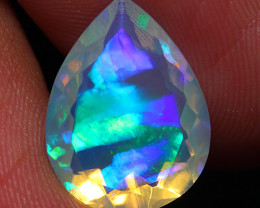 3.80 CT Extra Fine Quality Faceted Cut Ethiopian Opal -DF264