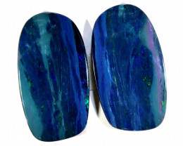 14.18 - CTS   OPAL DOUBLET   PAIR LO-5371