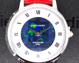 Original Red Ladies Silver Opal Watch Mosiac Opal - WO 31