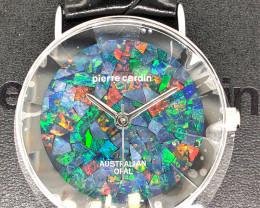 Original Silver Pyramid Opal Watch Mosiac Opal - WO 33