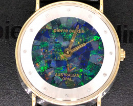 Unisex Gold Pyramid Opal Watch Glass Stone Opal - WO 34