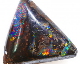 11.75CTS BOULDER OPAL POLISHED STONE FLASHES OF ELECTRIC COLOUR - S1228