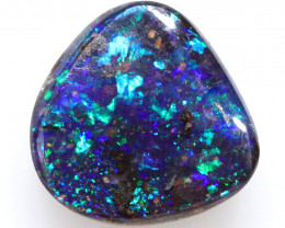 4.30CTS BOULDER OPAL POLISHED STONE FLASHES OF ELECTRIC COLOUR - S1229