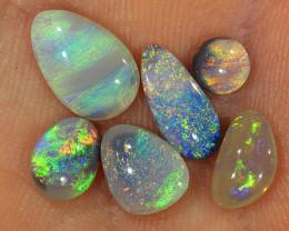 6pcs 3.6ct Solid Lightning Ridge Dark Opal Parcel [LO-1791]