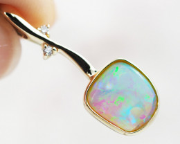 Crystal Opal Quality 14K Yellow Gold Opal Pendant - OPJ 2273
