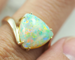 Fire Opal Quality 14K Yellow GoldFire Crystal Opal Ring - OPJ 2563