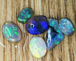 Rough Opal Rubs Lot 11.40 cts 6 pcs Black Opals $1 START, NO RESERVE BORF80