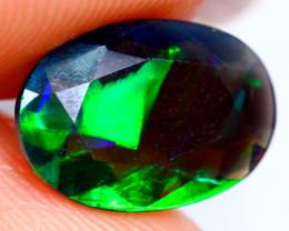 1.14ct Natural Ethiopian Welo Faceted Black Opal / FA110