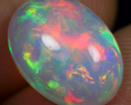 3.50cts Broad Rainbow Fire Natural Ethiopian Welo Opal