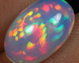 2.40cts Incredible Phoenix Feather Pattern Natural Ethiopian Welo Opal