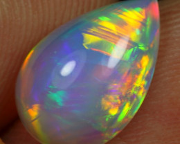2.30cts Rainbow Chaff Fire Pattern Natural Ethiopian Welo Opal