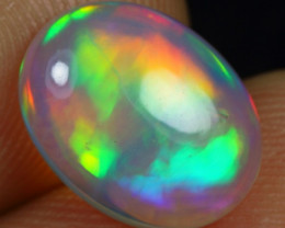 2.70cts Amazing Rainbow Cloud Pattern Natural Ethiopian Welo Opal