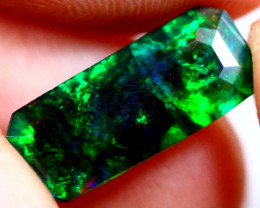 1.59cts Natural Ethiopian Faceted Smoked Opal / BIN61
