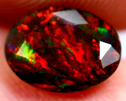 0.81cts Natural Ethiopian Faceted Smoked Opal / BIN66