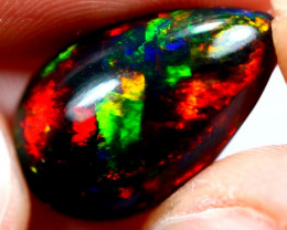 4.30cts Natural Black Smoked Polished Solid Opal / N34