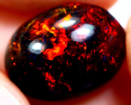 4.16cts Natural Black Smoked Polished Solid Opal / N38