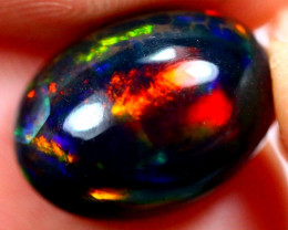 3.82cts Natural Black Smoked Polished Solid Opal / N39