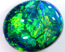 N-1   14.79 CTS QUALITY BLACK SOLID OPAL LIGHTNING RIDGE INV-382