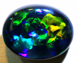 N1  9.45 CTS QUALITY BLACK SOLID OPAL LIGHTNING RIDGE INV-818 GC