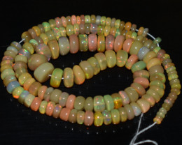 80.00 Ct Natural Ethiopian Welo Opal Beads Play Of Color OB760