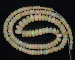 67.10 Ct Natural Ethiopian Welo Opal Beads Play Of Color OB762