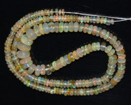 48.20 Ct Natural Ethiopian Welo Opal Beads Play Of Color OB763