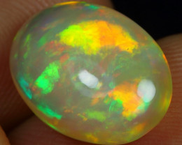 5.75cts Strong Broad Neon Fire Natural Ethiopian Welo Opal