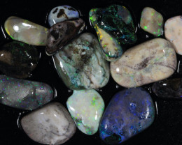 #9 Opal Chips-Andamooka Matrix Opal-  NNOpalChips-    [24666]