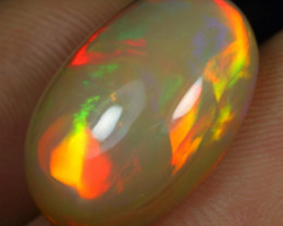9.35cts Broad Red Neon Fire Natural Ethiopian Welo Opal