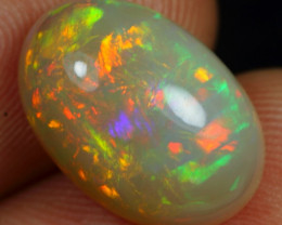 4.90cts Unique Ribbon Pattern Natural Ethiopian Welo Opal