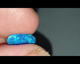 1.7 Ct Black Opal from Lightning Ridge Doublet