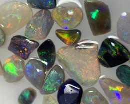 BEAUTIFUL RUBS; 15.7 CTs of Lightning Ridge Opal Rubs #1952